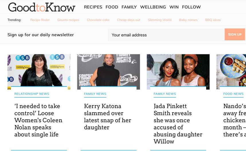 Daily GoodtoKnow news stories, GoodtoKnow