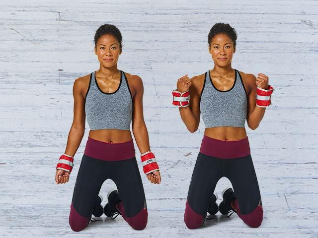 NO GYM MEMBERSHIP? TONE ARMS AT HOME DOING THIS 5 EXERCISE TRICEP WORKOUT, Women's Health