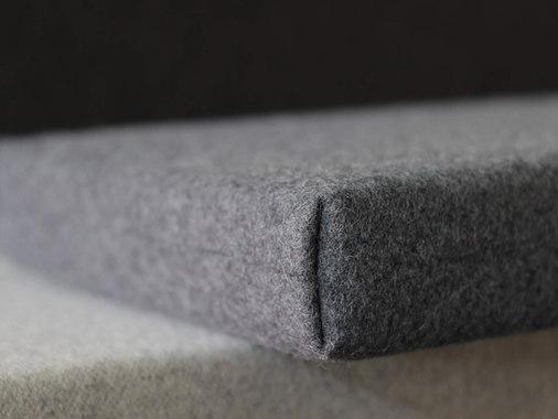 dark gray wool custom bench cushion line