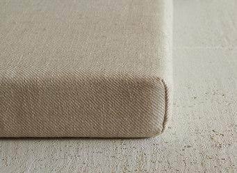 custom bench cushion in natural linen li