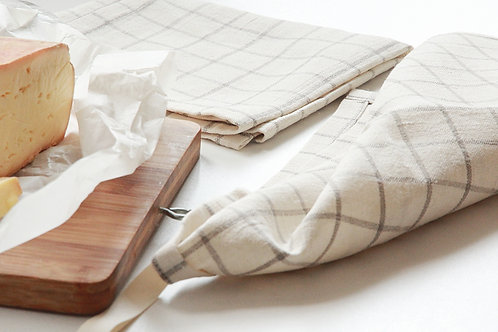 A pair of modern linen kitchen towels
