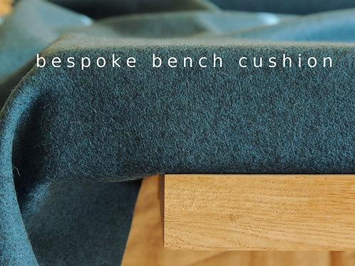 Dark teal wool bench cushion custom size
