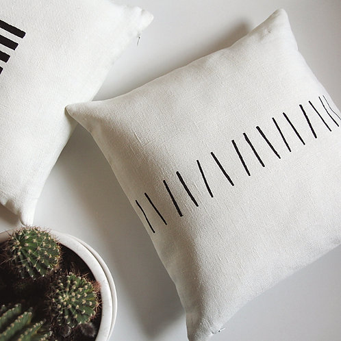 Black and white pillow cover for modern interior