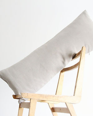 Long pillow natural grey undyed linen mo