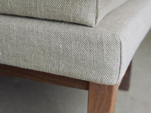 modern rustic linen bench cushions