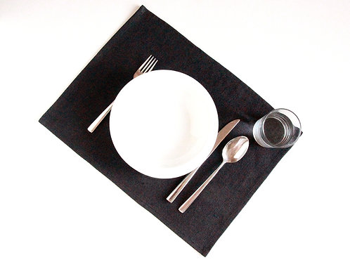 Linen placemats for modern table setting