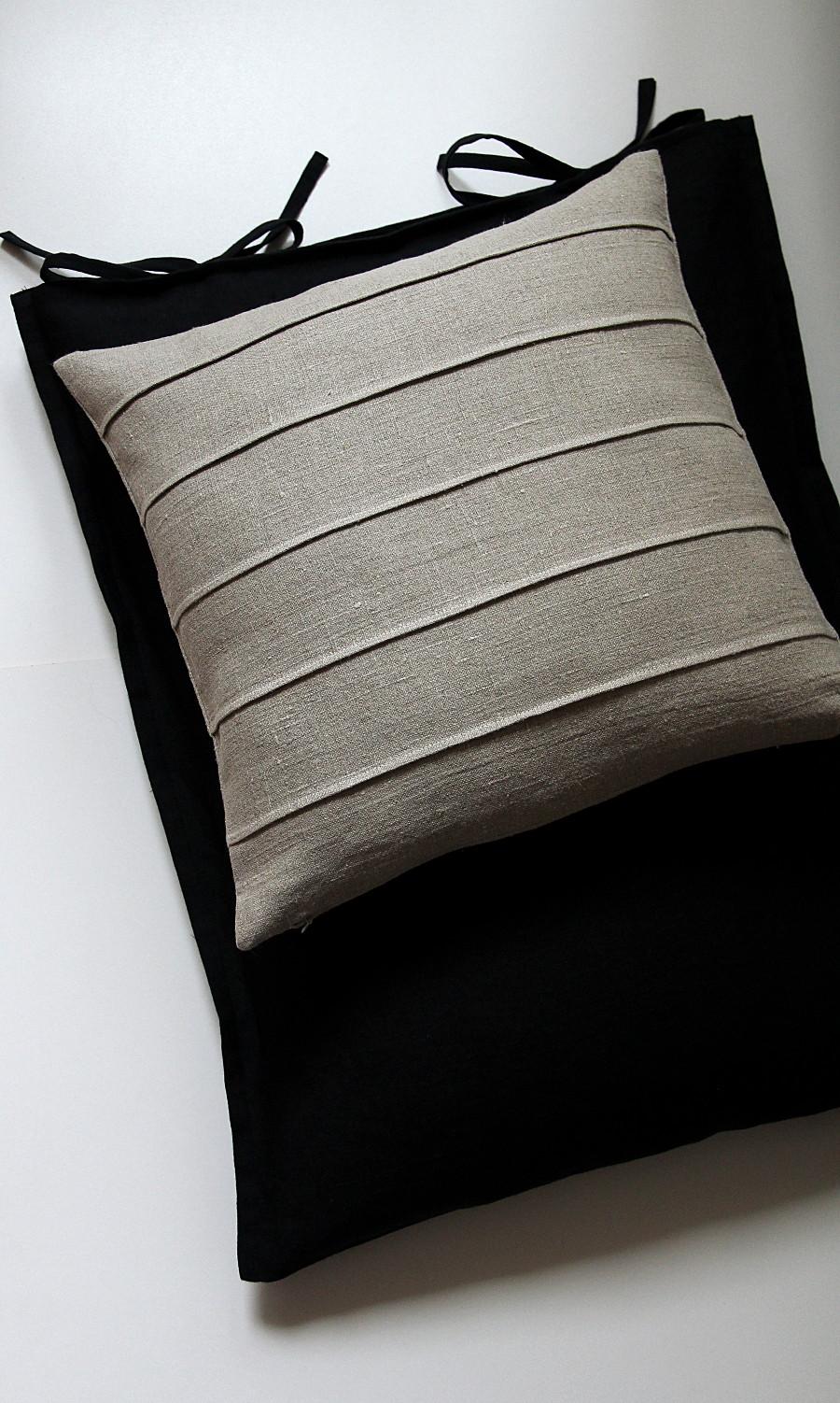 modern natural linen pillow case for decorative throw cushion