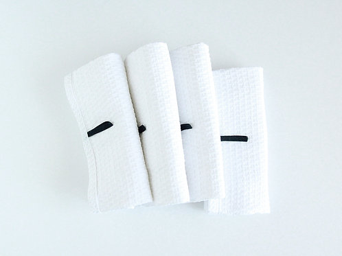 Linen and cotton guest towel