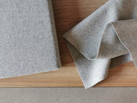 Gray wool bench seat cushion custom size