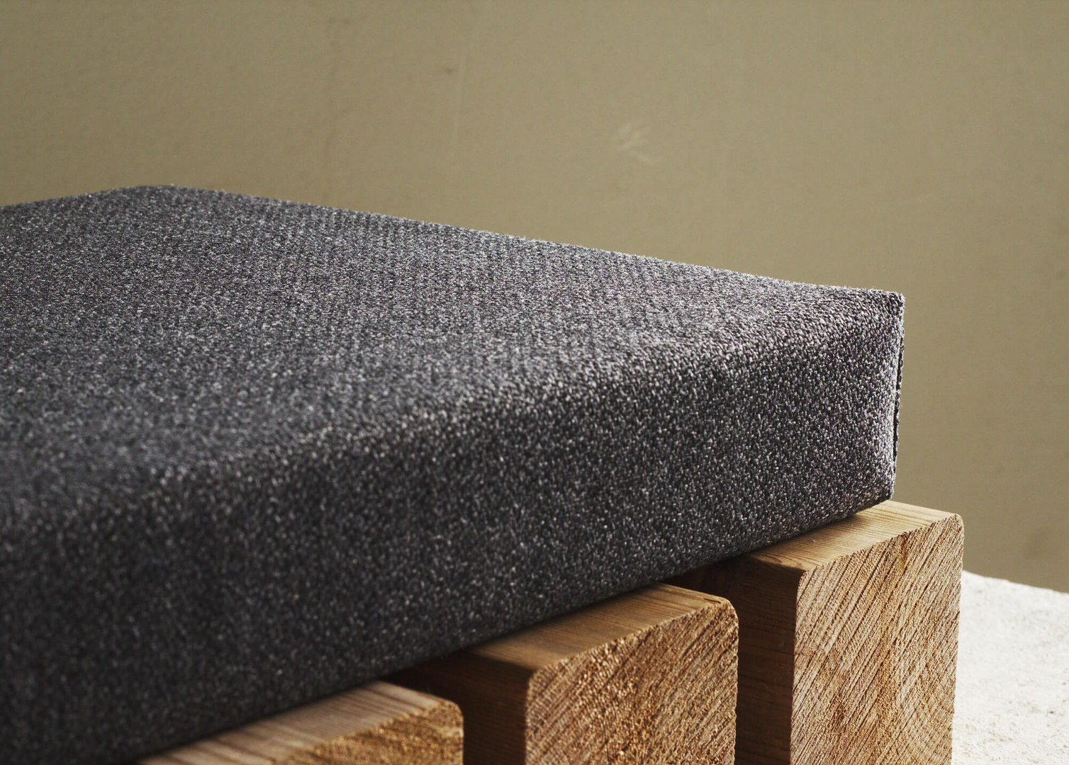 dark gray bench cushion custom linenspac