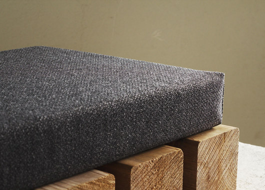 dark gray bench cushion custom linenspac