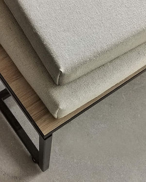Custom bench cushions for modern interio