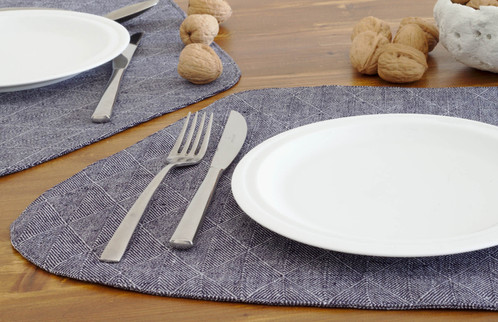 Beau Blue Modern Placemats Wedge Shape And White Plate; Modern Round Table  Setting With Scandinavian Placemats ...