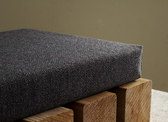 charcoal bench cushion custom size linen