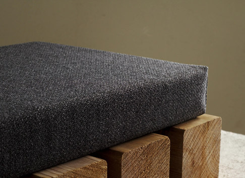 charcoal bench cushion custom size linen