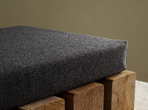 Dark gray custom bench cushion