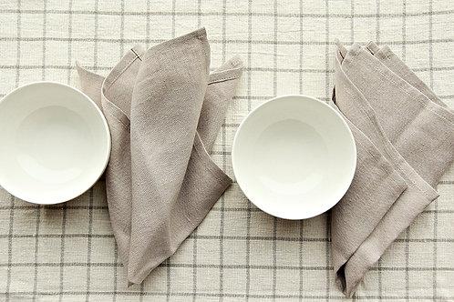 Pale pastel brown (tan) linen napkin