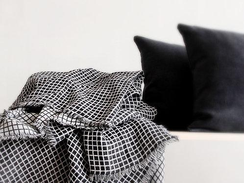 Scandinavian blanket in black and white
