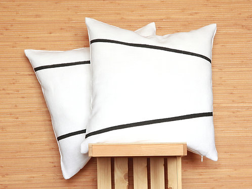 Modern minimalist black and white pillow covers
