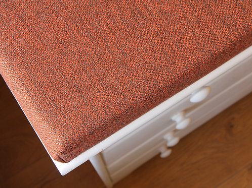 burnt orange cushion for bench