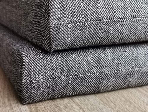 bench cushion with linen cover fabric 1