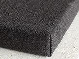 charcoal custom bench cushion linenspace