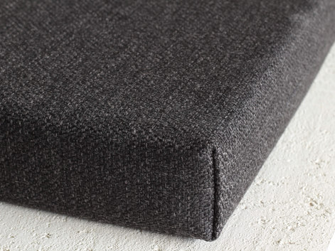 charcoal custom bench cushion linenspace