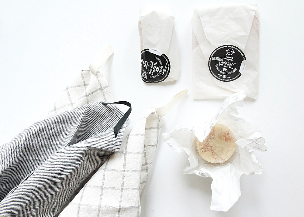 gourmet cheese and modern linen towels