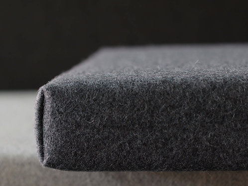 dark gray wool bench cushion