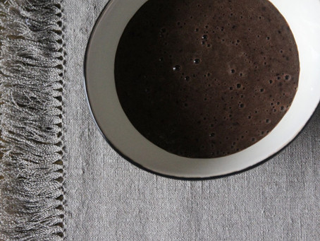 Vegetarian chocolate smoothie with no chocolate!