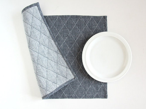 A set of two elegant placemats for simple table setting