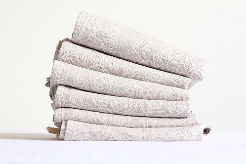 A set of six modern kitchen towels