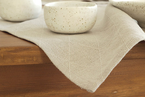 Modern linen placemat and modern tableware