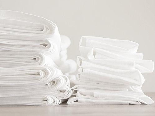 100 white linen napkins bulk