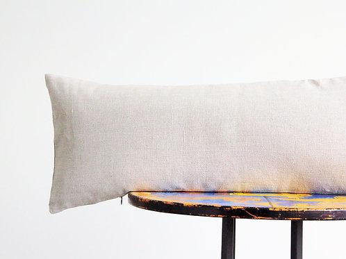 Modern linen lumbar pillow
