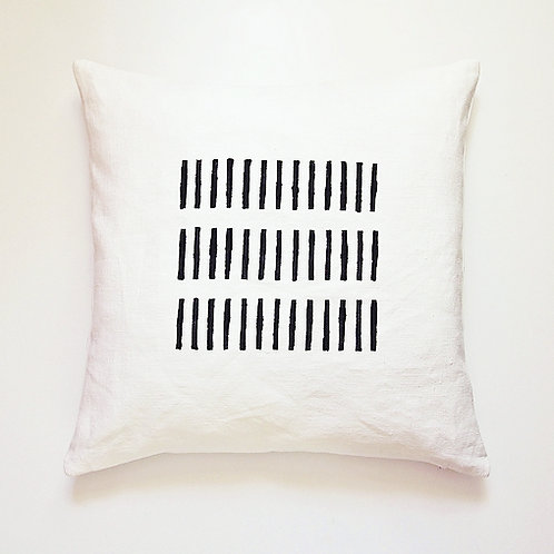 Modern rustic pillow cover black and white Scandinavian style