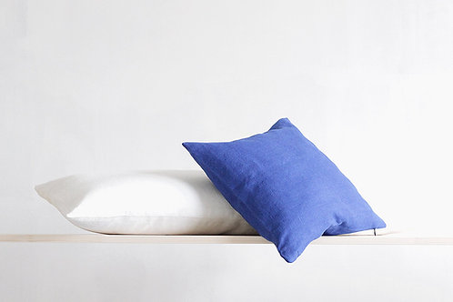 Blue and white pillows for modern interior