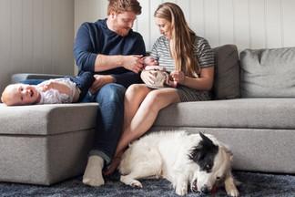 familie, barn, nyfødt, hjemmefotografering