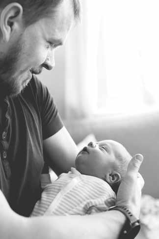 far og sønn, nyfødt