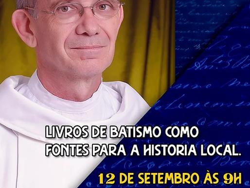Palestra sobre o uso de livros de batismo na pesquisa histórica