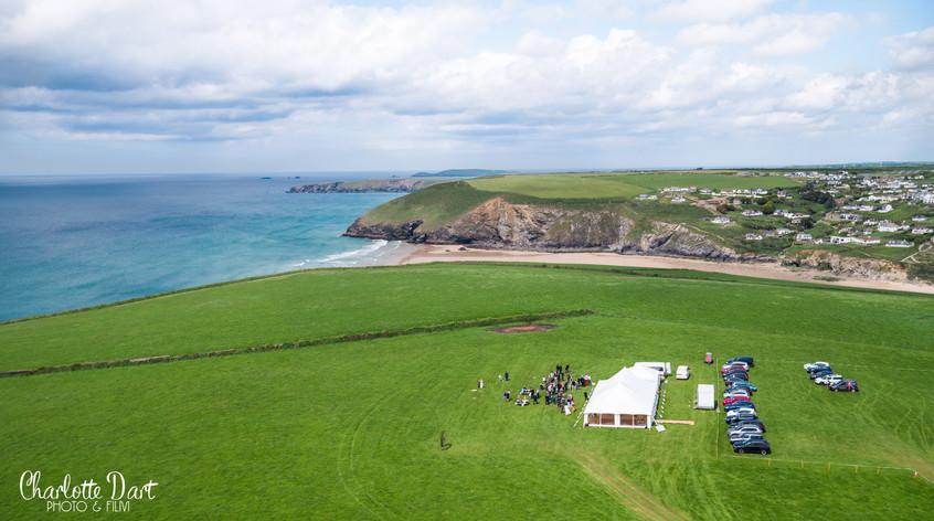 Capturing A Coastal Wedding By Drone - Mawgan Porth, Cornwall