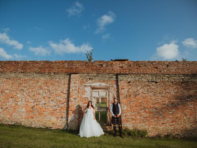 When grandeur meets Rock + Roll Bride At Pencarrow Estate, Bodmin Cornwall
