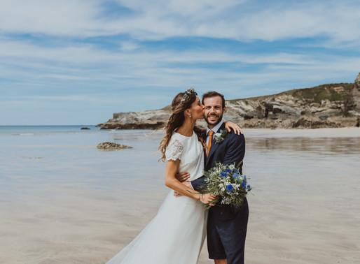 Lusty Glaze beach wedding- Newquay Cornwall.
