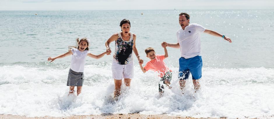 Beach Fun - Family Photoshoot at Blackpool Sands, Devon