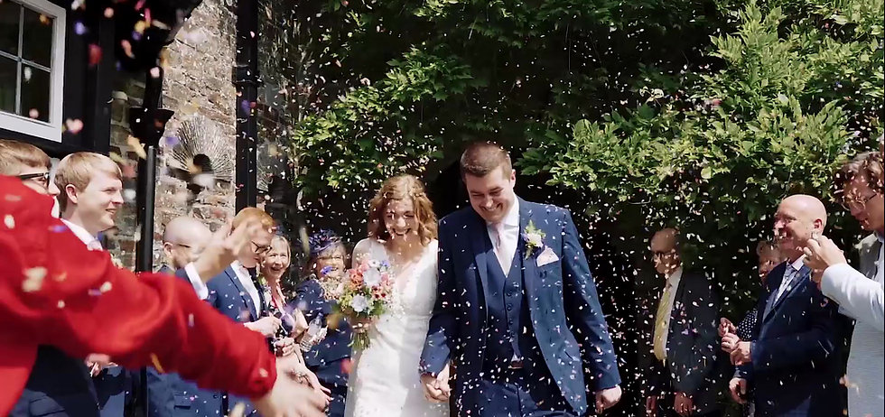 wedding videographer cornwall & Devon