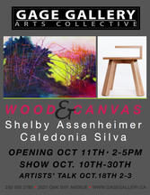 Gage Gallery exhibition with artist Shelby Assenheimer / Victoria BC - 2014