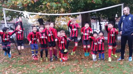 Jumping for Joy Over New Football Kit