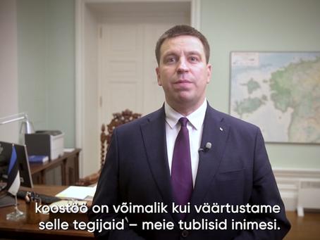 """Peaminister Jüri Ratase avakõne juhtimiskonverentsil """"Jah, aga"""""""