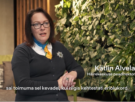 Lühiintervjuu Kätlin Alvelaga (Häirekeskuse peadirektor)