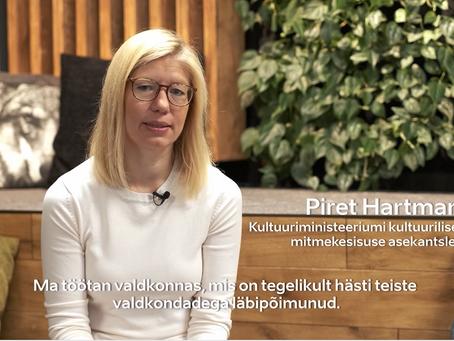 Lühiintervjuu Piret Hartmaniga (Kultuuriministeeriumi kultuurilise mitmekesisuse asekantsler)